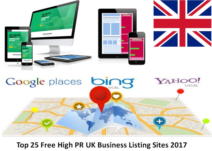 top 25 free high pr uk business listing sites 2017